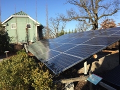 10 Kw solar array behind Ticketing